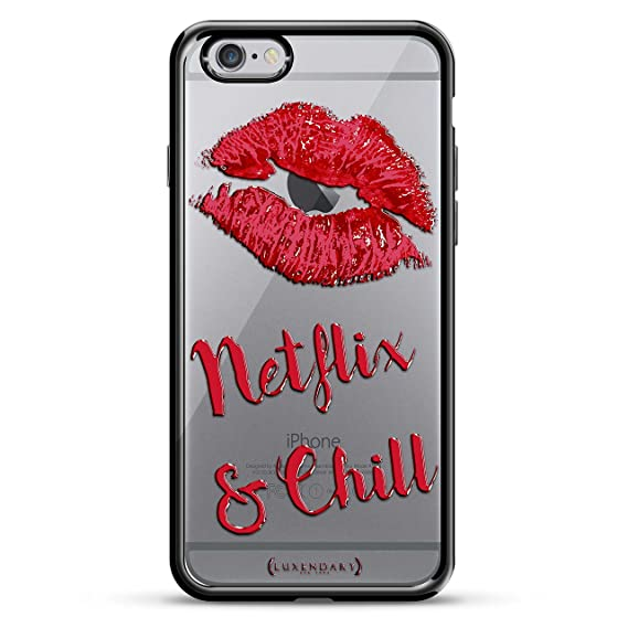 Luxendary Netflix & Chill Design Chrome Series Case for iPhone 6/6S Plus -  Titanium Black