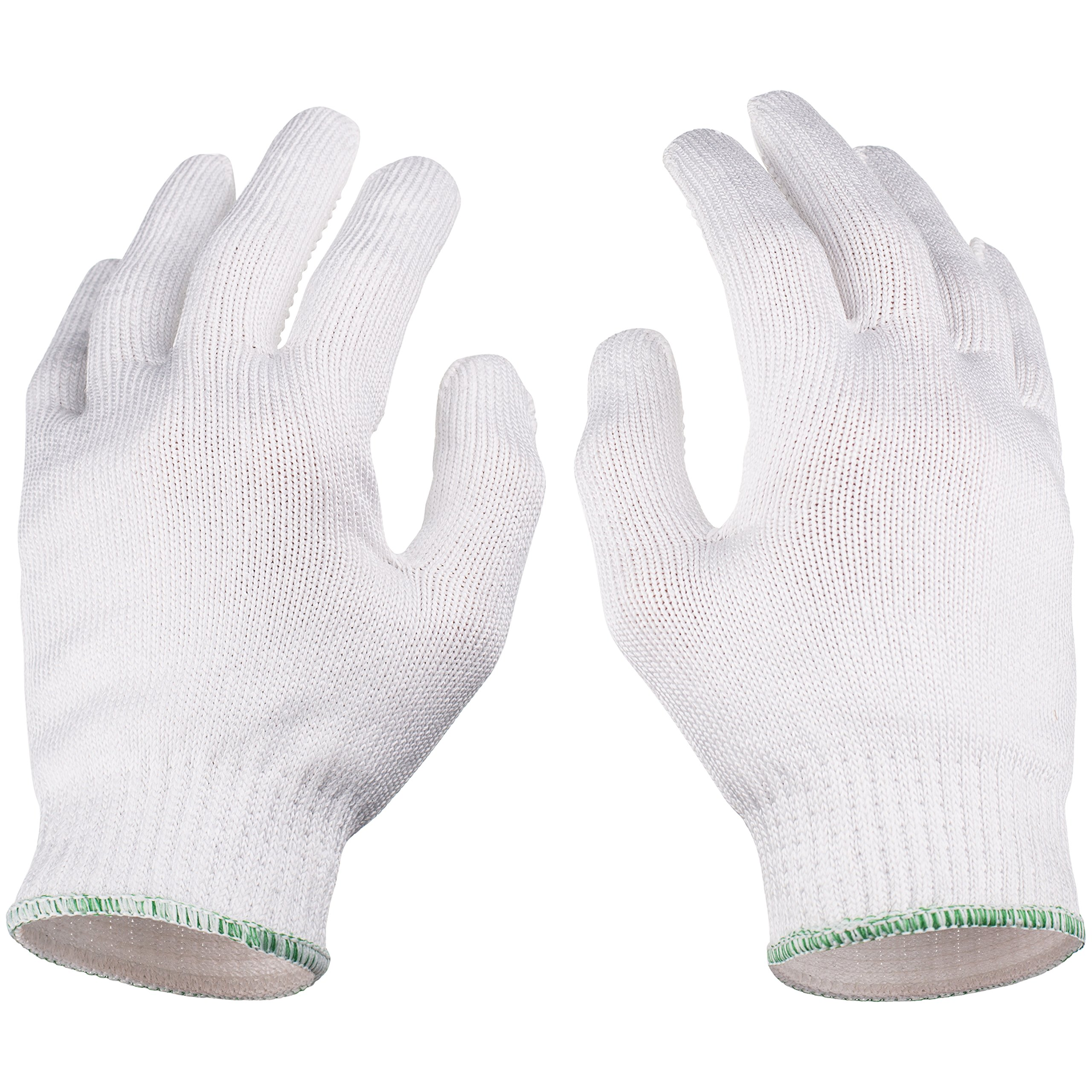 NoCry Cut Resistant Protective Work Gloves with Rubber Grip Dots. Tough and Durable Stainless Steel Material, EN388 Certified. 1 Pair. White, Size Large by NoCry (Image #9)
