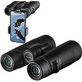 Binoculars, 12x42 Binoculars for Adults with Smartphone Adapter, HD Professional Binoculars for Bird Watching Travel…