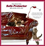 """LAMINET Thick Crystal Clear Heavy-Duty Water Resistant Sofa/Couch Cover - Perfect for Protection Against CAT/Dog Clawing, Kids and Grandkids!!! - Sofa - 42"""" BH x 18"""" FH x 96""""W x 40""""D"""