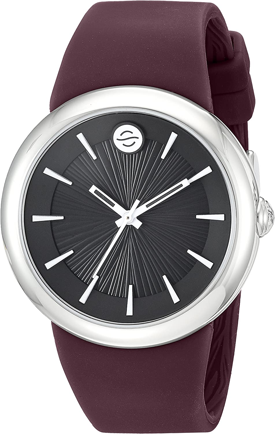 Philip Stein ' Japanese Quartz Stainless Steel and Silicone Watch, Color:Purple (Model: F36S-LCB-PR)