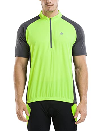 390576554 KORAMAN Men s Reflective Short Sleeve Cycling Jersey Quick-Dry Breathable  Biking Shirt