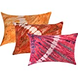 """RRC 100% Natural Cotton Printed Pillow Covers Set of 6-17"""" x 27"""", Multicolor"""