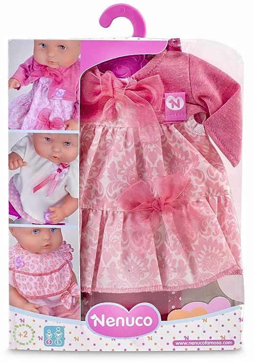 Nenuco Ropita con percha 35 cm, vestido Rosa (Famosa 700012823)