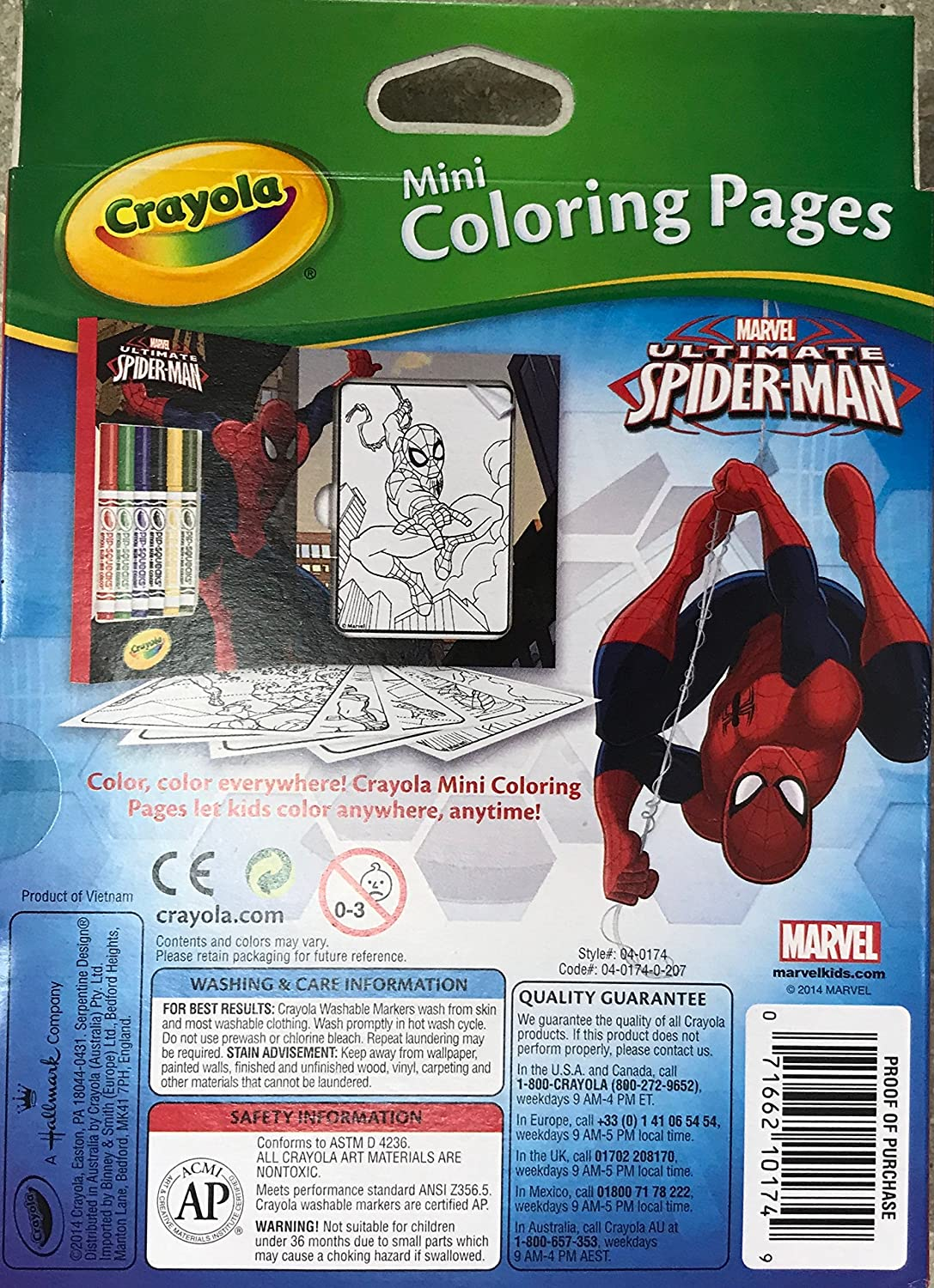 Crayola spider man 80 mini coloring pages with 6 markers set for boys markers amazon canada