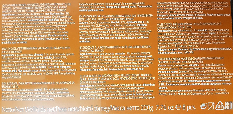Anthon Berg albaricoque en brandy chocolate cubierto de mazapán 220g: Amazon.es: Alimentación y bebidas
