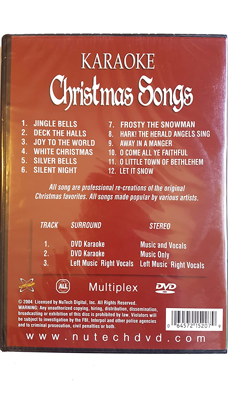 Karaoke: Classic Christmas Songs: Amazon.ca: Video