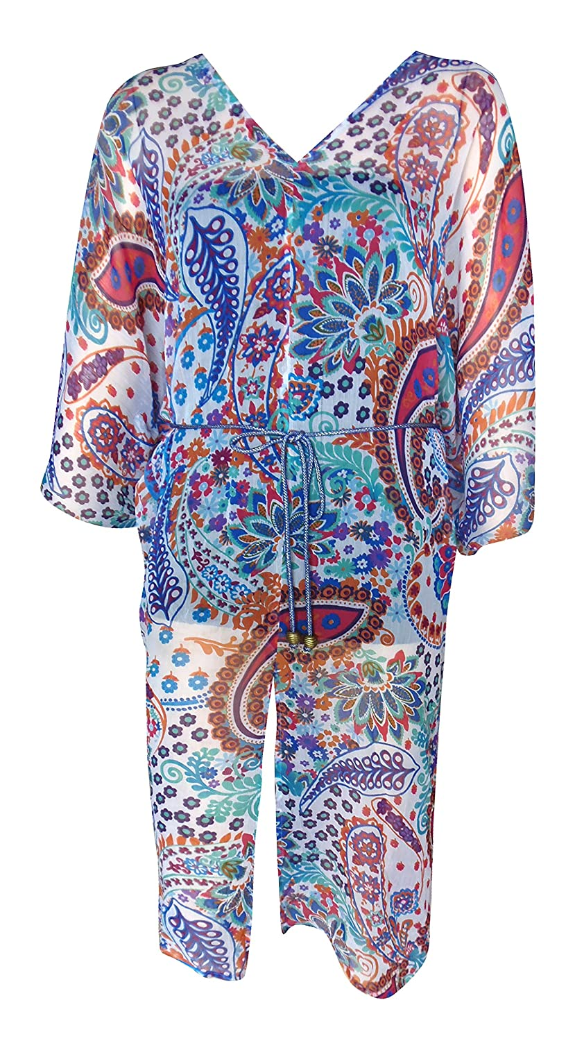 SUNROSE Multicolor Printed Beach Kaftan Caftan Cover up 610