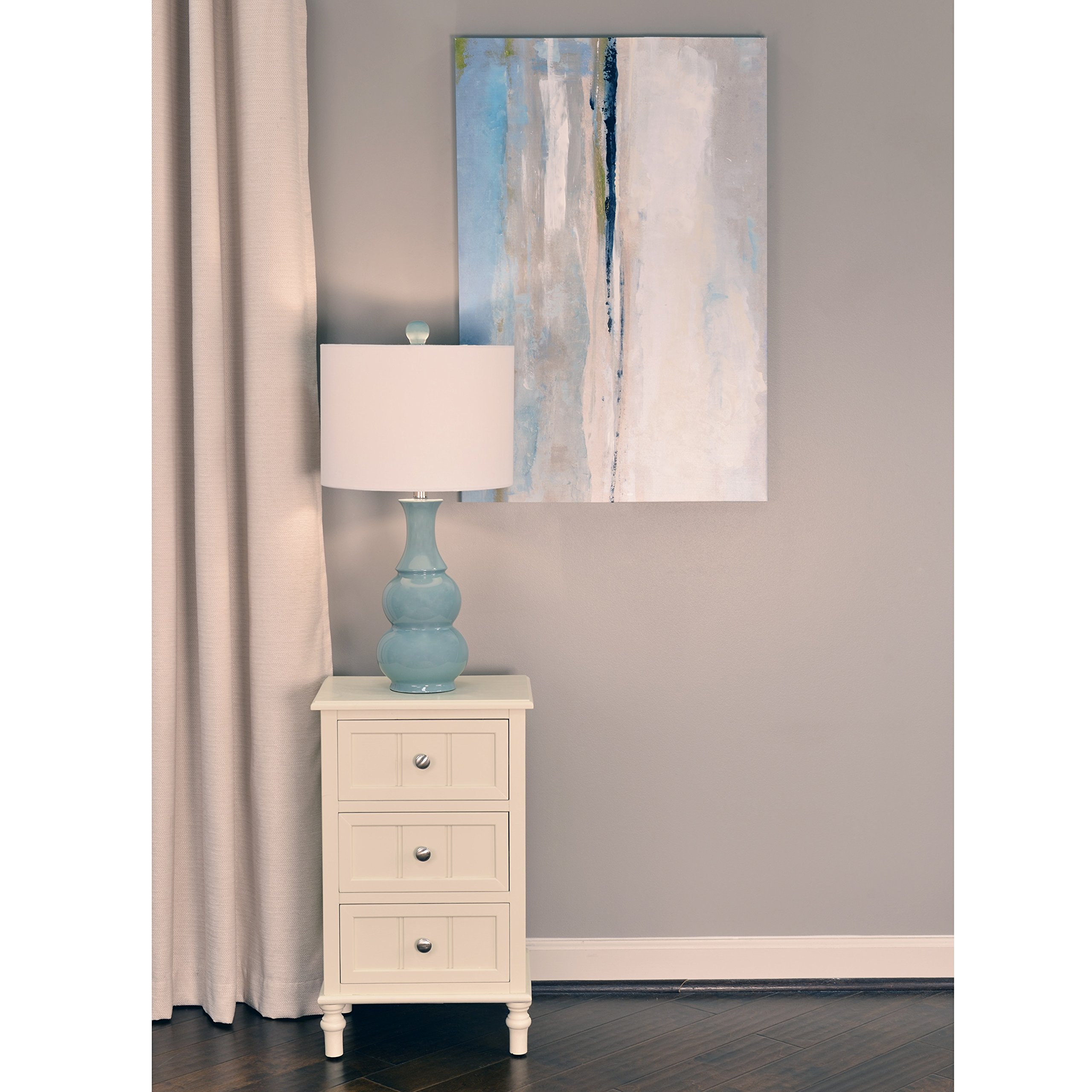 Décor Therapy FR1720 White Finish Three Drawer End Table, Buttermilk by Décor Therapy (Image #5)