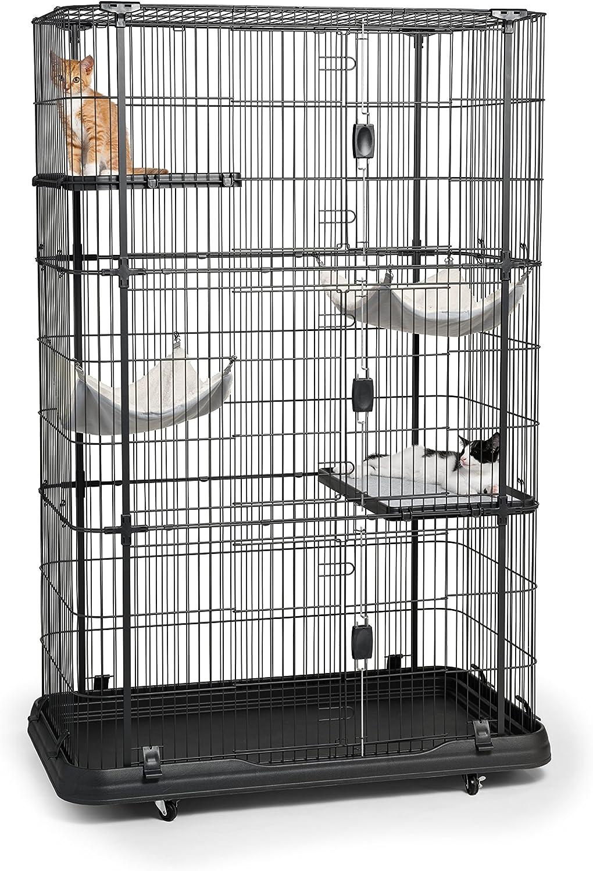 Prevue Pet Products Premium Cat Home With 4 Levels, Black: Pet Supplies