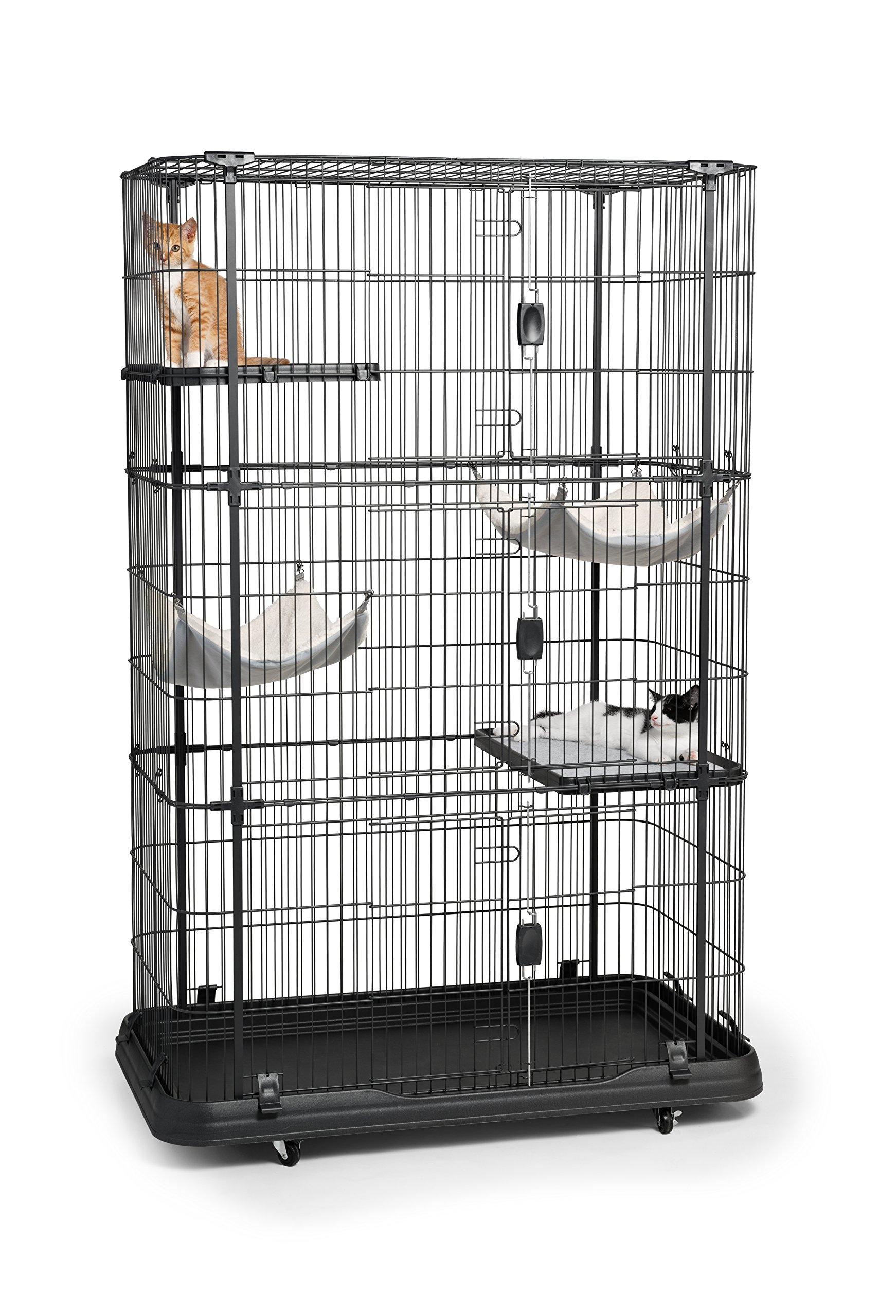 Prevue Pet Products 7500 Premium Cat Home with 4 Levels, Black