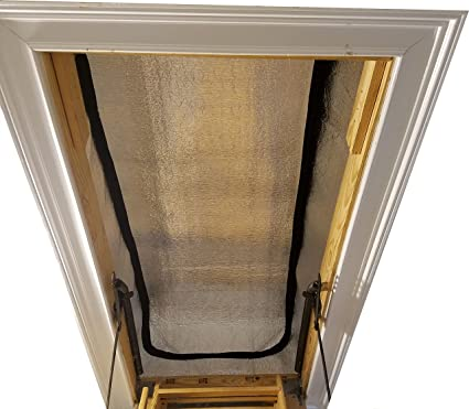 Pull Down Attic Ladder Insulating Stair Cover 25u0026quot; ...