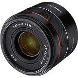 Samyang AF 45mm F1.8 Sony FE 全幅镜头适用于Sony 索尼 Alpha 系统摄像头(FE和Eajonett),全幅APS-C传感器,49mm 滤镜螺纹,小型和高级