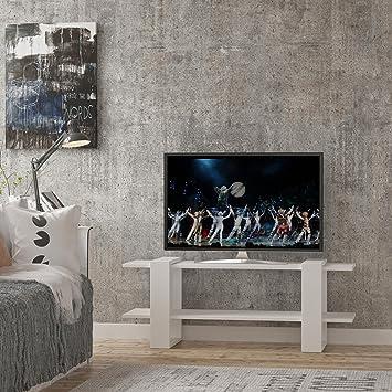 Lamodahome Tv Stander Einheit Weiss Hintergrund Moderne Deko