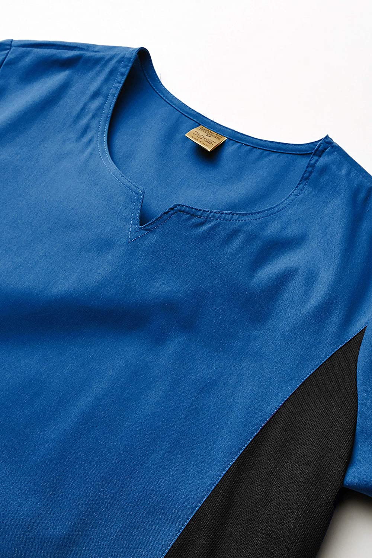 Fashion Seal Healthcare Womens F Royal Simply SFT Notch Neck Flex Tunic Medical Scrubs Shirt