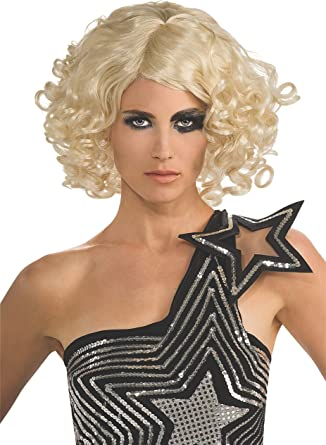 NEW LADY GAGA Blonde Soda Can Wig  Officially  Licensed Costume Adult
