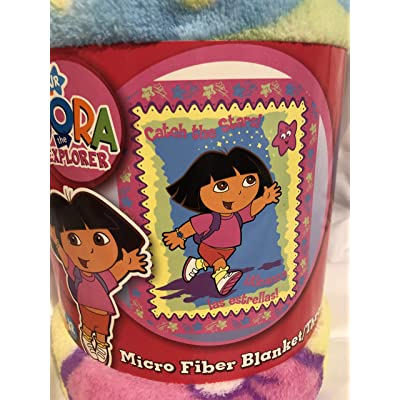 Dora the Explorer 'Stars' Fleece Throw: Home & Kitchen