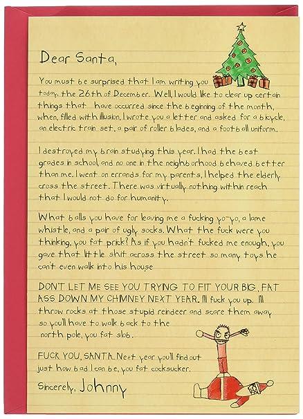 amazon com 1087 dear santa funny merry christmas greeting card