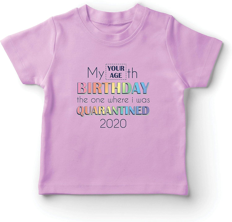 lepni.me Camiseta para Niño/Niña Distanciamiento Social 2020 Regalo de Feliz Cumpleaños de Cuarentena Personalizado