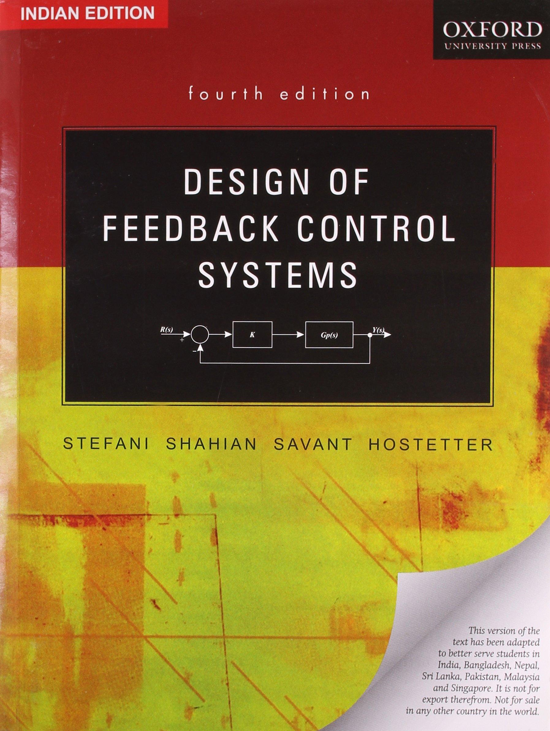 Design Of Feedback Control Systems 4th Ed Stefani 9780195682830 Books Amazon Ca