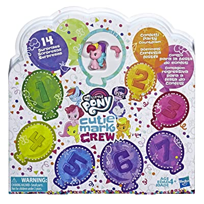 My Little Pony Toy Cutie Mark Crew Confetti Party Countdown Collectible 8 Pack with 14 Surprises: Toys & Games