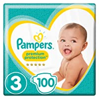 Pampers - Premium Protection - Couches Taille 3 (6-10/5-9 Kg) - Lot de 2 packs x50 (x100 couches)