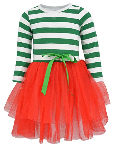 c7504f32f734 Amazon.com: Unique Baby Girls Christmas Dress Tutu: Clothing