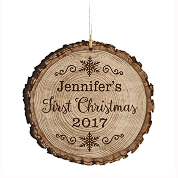Amazon personalized babys first christmas ornament 2017 new personalized babys first christmas ornament 2017 new parent gift ideas for newborn boys and girls custom negle Images