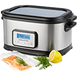 Andrew James Sous Vide Machine | Professional Water Bath Cooker | 8.5L with 6L Cooking Capacity | Built-In Programmable Timer & LCD Display | Non-Stick | Includes Stainless Steel Wire Rack & Silicone Tongs