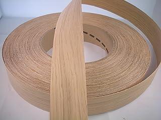 Iron-on Pre-Glued Oak Real Wood Veneer Edging 50mm Wide (10 metres)