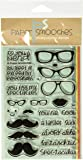 """Paper Smooches Incognito Stamps, 4 by 6"""", Clear"""