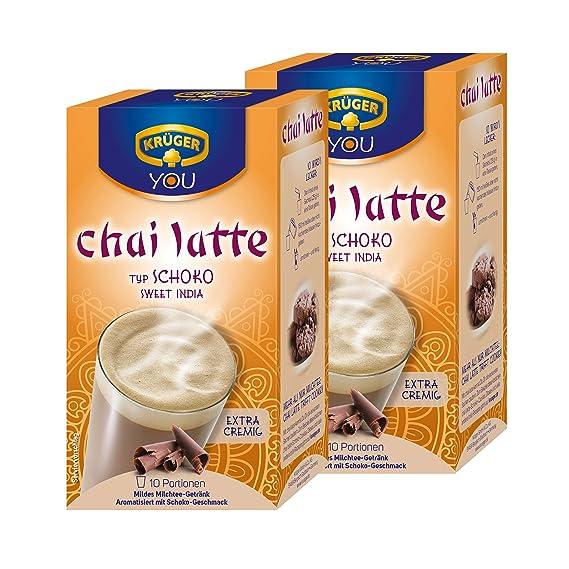Krüger Chai Latte Sweet India, Chocolate, lávalo Leche Té Tipos, Pack de 2, 2 x 10 porción Bolsas: Amazon.es: Hogar