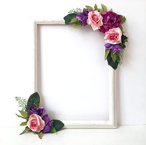 Amazon.com: Floral Selfie Frame, Photo Prop Frame, Photo Booth ...