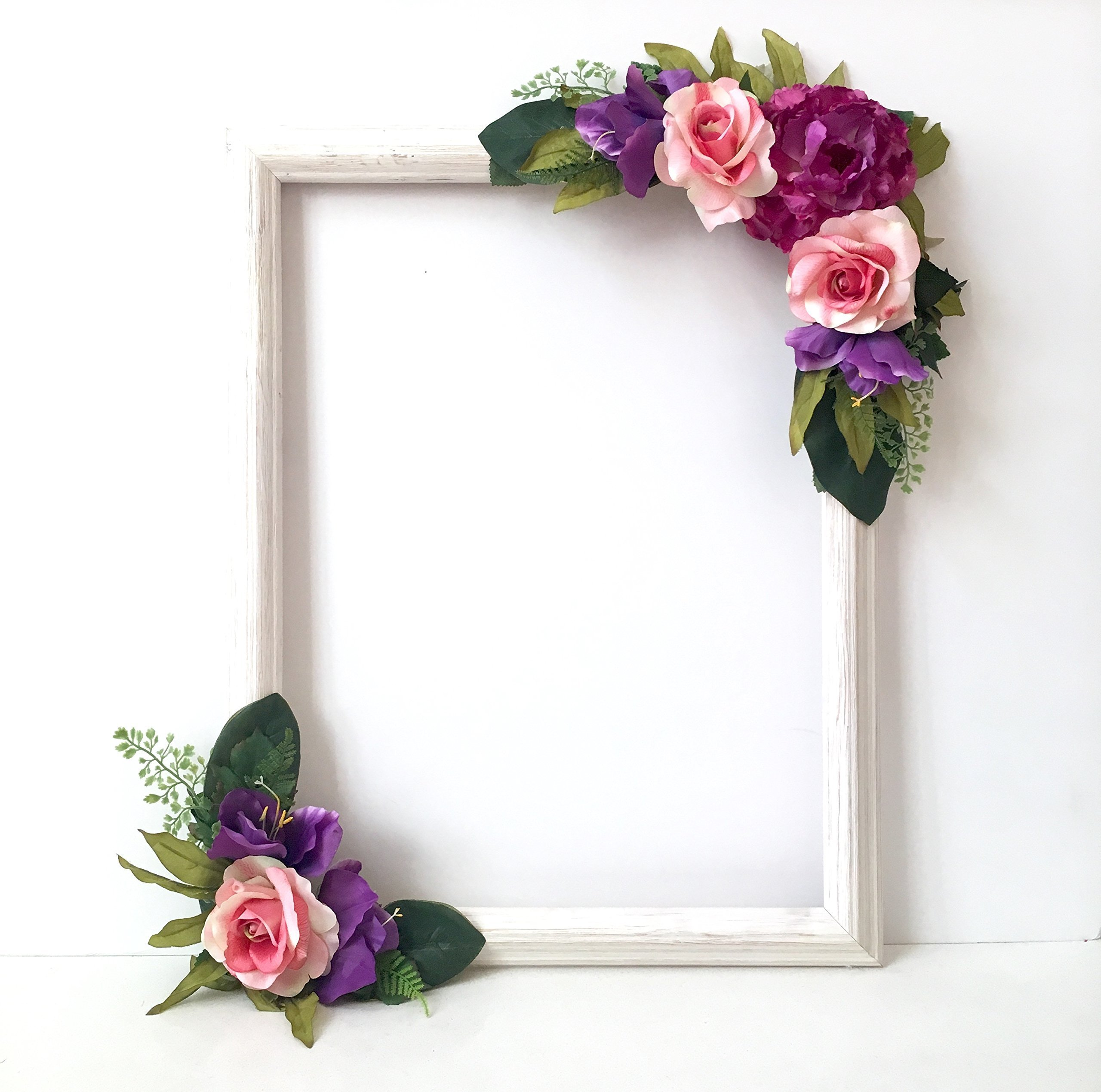 Floral Selfie Frame, Photo Prop Frame, Photo Booth Selfie Frame, 18''x24'', Variety Flower Colors