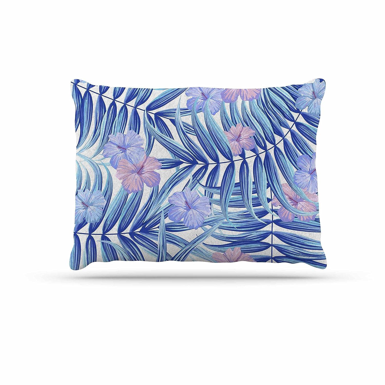 KESS InHouse Marta Olga Klara Hawaiian Pattern bluee Lavender Dog Bed, 30  x 40