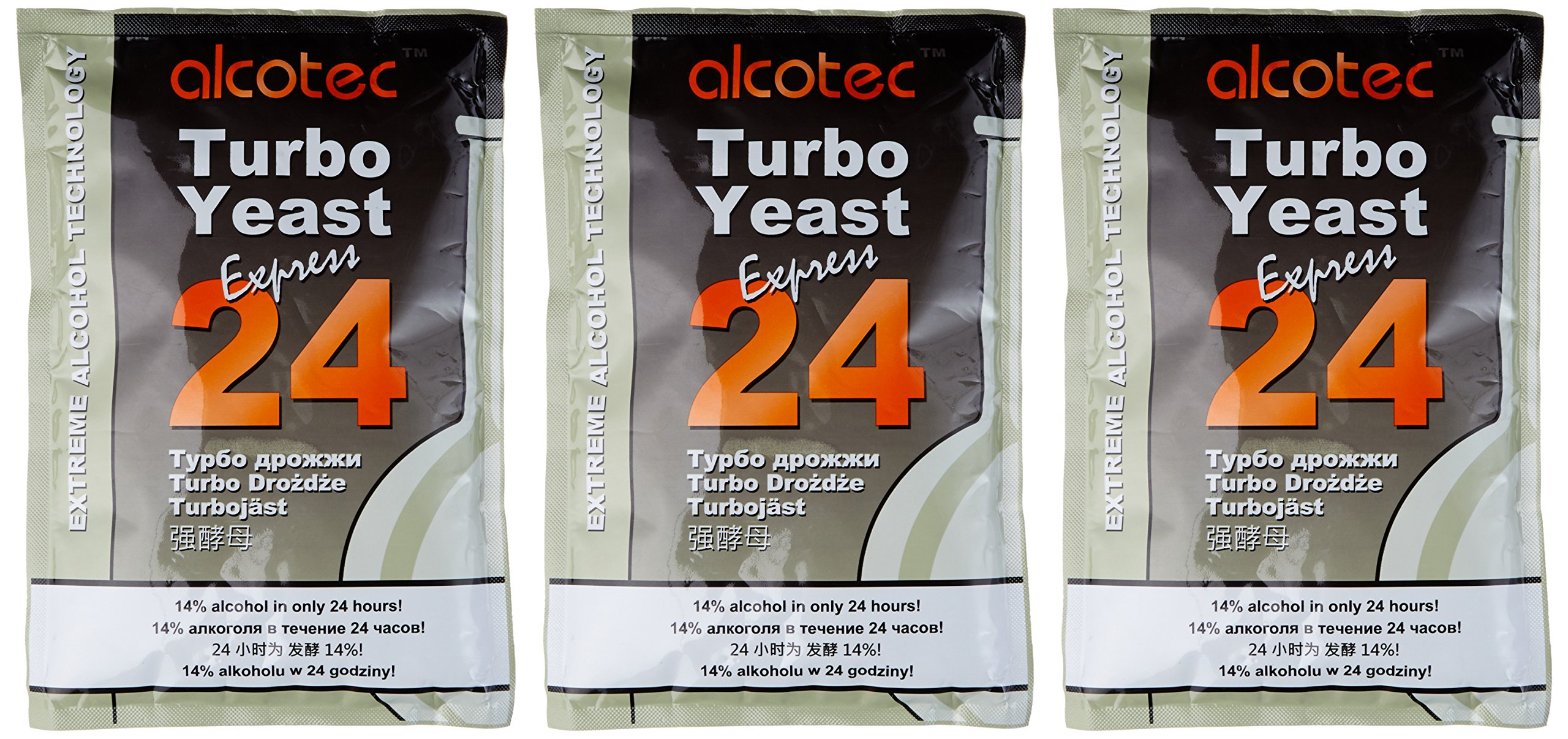 Amazon.com: Alcotec 24-hour Turbo Yeast, 205 grams (Pack of 3): Industrial & Scientific
