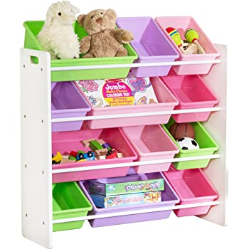 Honey Can Do SRT 01603 Kids Toy Organizer And Storage Bins, White