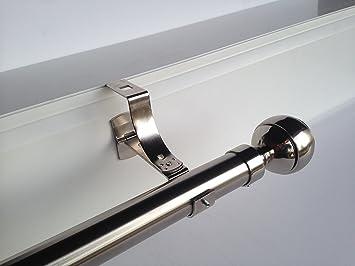 Geko - Pieza de soporte para barra de cortinas (diámetro: 28 mm ...