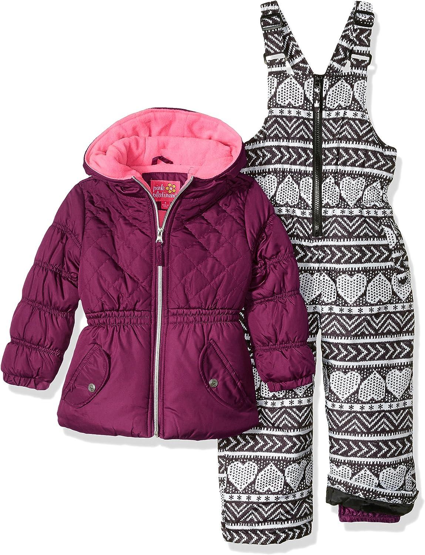 Pink Platinum Girls Insulated Two-Piece Snowsuit