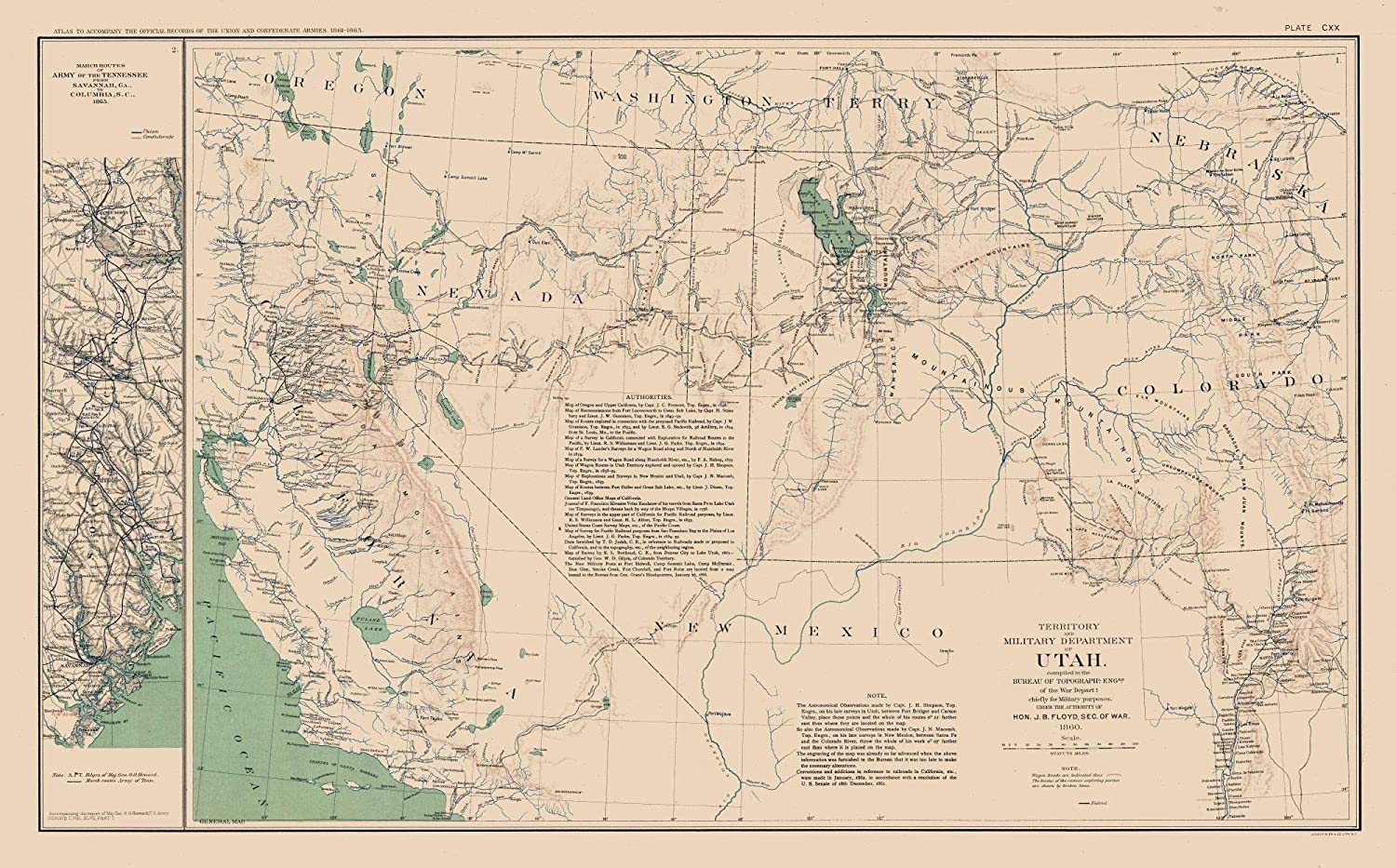 Amazon.com: MAPS OF THE PAST Utah Tennessee Military ...