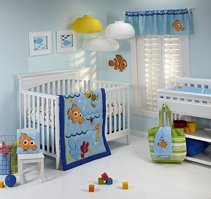4-Pc Disney Baby Finding Nemo Wavy Days Crib Bedding Comforter Set