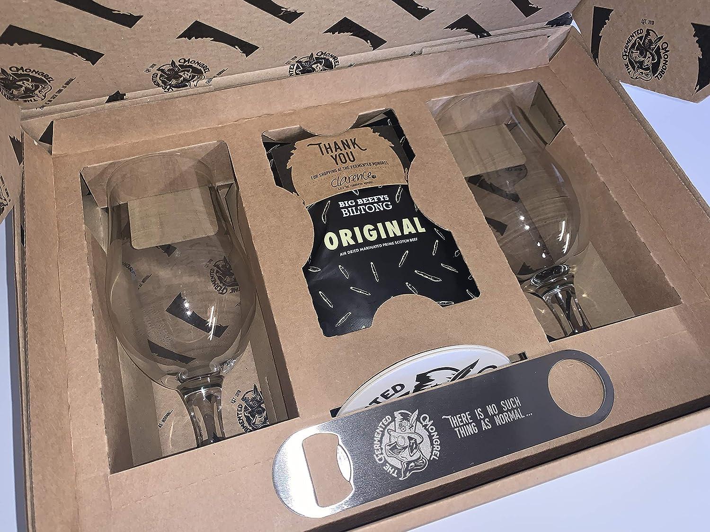Juego de vasos de cerveza artesanales de The fermentado Mongrel Premium Libbey de 17.25 oz con tallo único