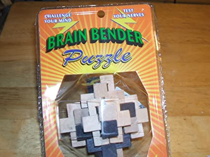 Amazon Brain Benders Mind Bending Wooden Puzzle One Varied