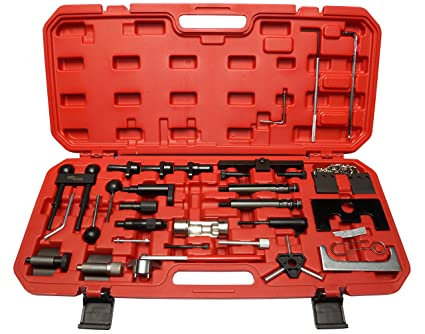 red line tools rl4740 volkswagen and audi 4 cylinder gas and diesel timing tool kit  common rail diesel timing belt tool kit