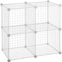 AmazonBasics 4 Cubos de alambre para almacenamiento