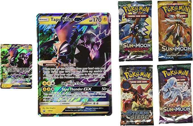 Pokémon POC472 Shiny Tapu Koko-GX - Caja: Amazon.es: Juguetes y juegos