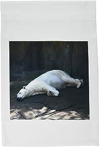 3dRose fl_17535_1 Sleeping Polar Bear Garden Flag, 12 by 18-Inch