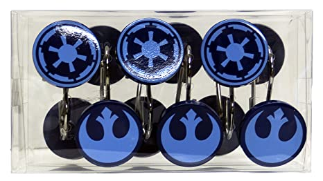 Lucas Film Star Wars ClassicquotSagaquot Shower Curtain Hooks
