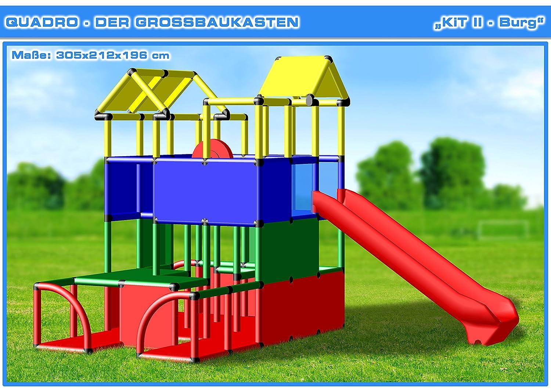 QUADRO KIT II - Klettergerüst Kletterturm Spielturm: Amazon.de ...