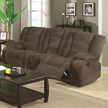 coaster home furnishings casual motion sofa brown siege